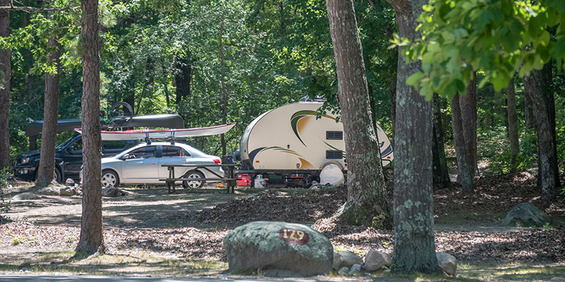 Drive in campsite at Burlingame State Campground