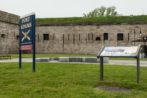 Entrance to Fort Adams