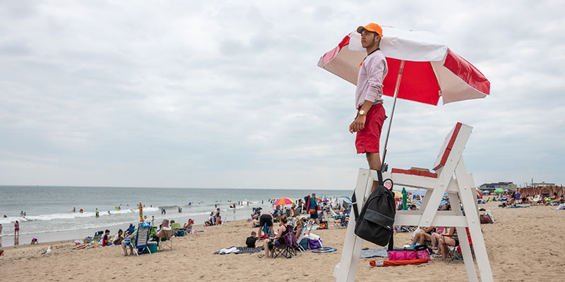 Lifeguard at Misquamicut State Beach